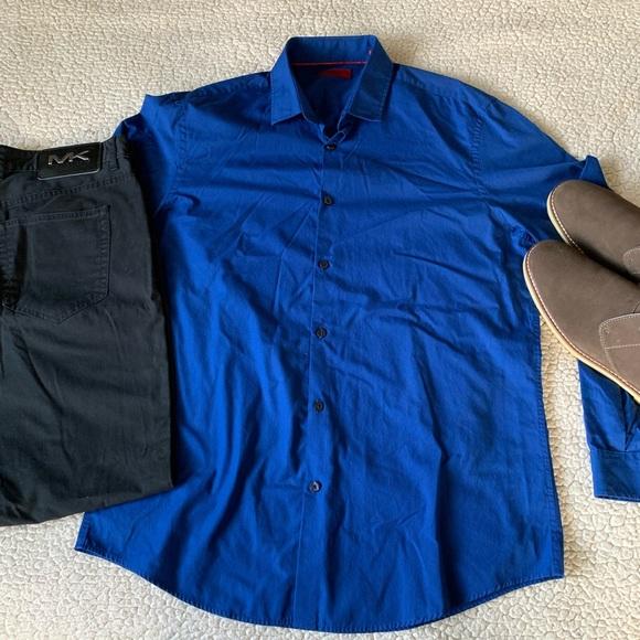 Alfani Other - Alfani Blue Striped Slim Fit Dress Shirt EUC